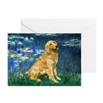 Lilies (#5) & Golden (1B) Greeting Cards (Pk of 10