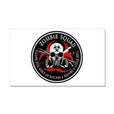 Biohazard Zombie Squad 3 Ring Patch outlined 2 Car