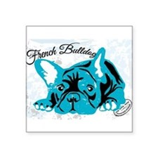 "Cute Bulldogge Square Sticker 3"" x 3"""