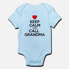 Keep Calm Call Grandma Body Suit