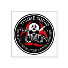 Biohazard Zombie Squad 3 Ring Patch outlined 2 Sti