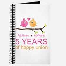 5th Anniversary Personalized Journal