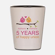 5th Anniversary Personalized Shot Glass