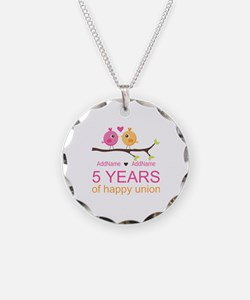 5th Anniversary Personalized Necklace