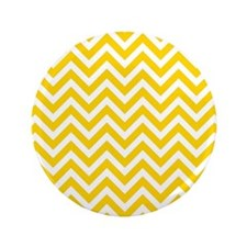 """yellow and white chevrons 3.5"""" Button"""