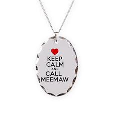 Keep Calm Call Meemaw Necklace