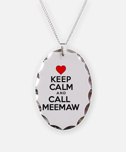 Keep Calm Call Meemaw Necklace