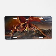 Dragon Attack Aluminum License Plate