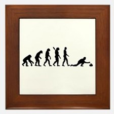 Curling evolution Framed Tile