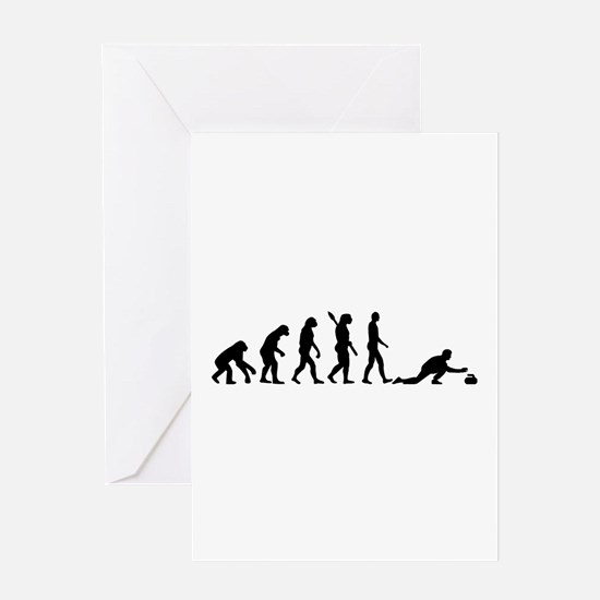 Curling evolution Greeting Card
