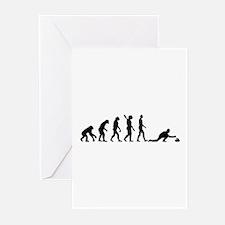Curling evolution Greeting Cards (Pk of 20)