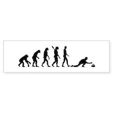 Curling evolution Bumper Sticker