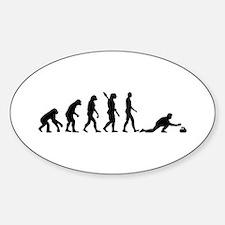 Curling evolution Sticker (Oval)