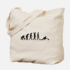 Curling evolution Tote Bag