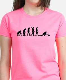 Curling evolution Tee