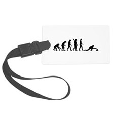 Curling evolution Luggage Tag