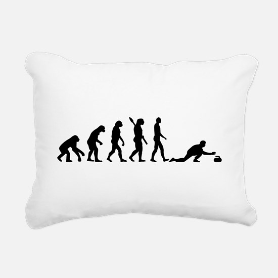 Curling evolution Rectangular Canvas Pillow