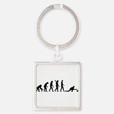 Curling evolution Square Keychain