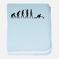 Curling evolution baby blanket