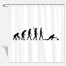 Curling evolution Shower Curtain