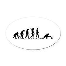 Curling evolution Oval Car Magnet