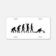 Curling evolution Aluminum License Plate