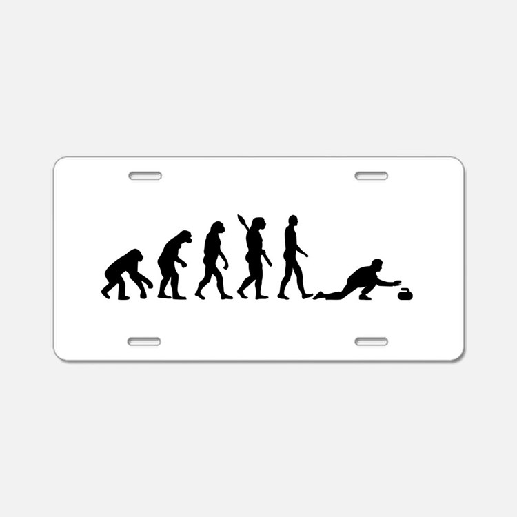 Curling evolution Aluminum License Plate