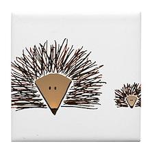 Cute Hedgehog Tile Coaster