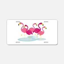 Flamingos Aluminum License Plate