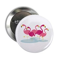 "Flamingos 2.25"" Button"