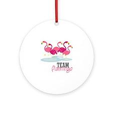 Team Flamingo Ornament (Round)