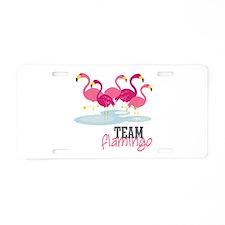 Team Flamingo Aluminum License Plate