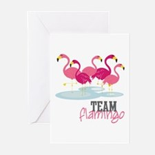 Team Flamingo Greeting Cards