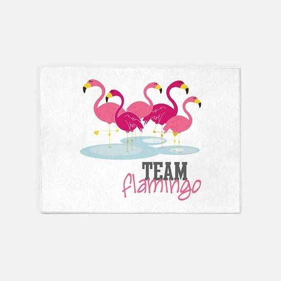 Team Flamingo 5'x7'Area Rug