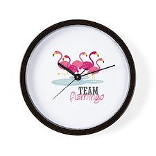 Team Flamingo Wall Clock