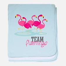 Team Flamingo baby blanket