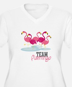 Team Flamingo Plus Size T-Shirt