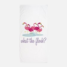What The Flock Beach Towel