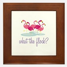 What The Flock Framed Tile
