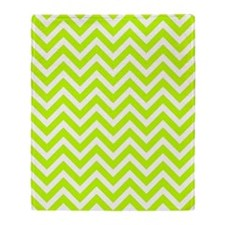 Safety green and white chevrons Throw Blanket
