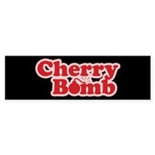 Cherry Bomb Bumper Bumper Sticker