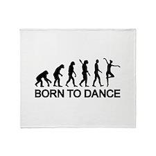 Ballet Ballerina evolution Throw Blanket