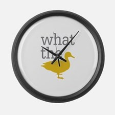 What The Duck? Large Wall Clock