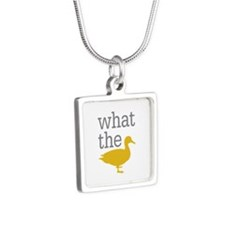 What The Duck? Silver Square Necklace