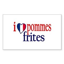 I Love Pommes Frites Rectangle Decal