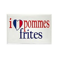 I Love Pommes Frites Rectangle Magnet
