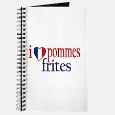 I Love Pommes Frites Journal