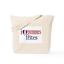 I Love Pommes Frites Tote Bag