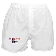 I Love Pommes Frites Boxer Shorts