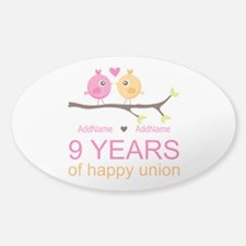 9th Wedding Anniversary Perso Decal